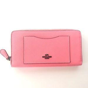 Coach Accordion Zip Wallet Pink Lemonade